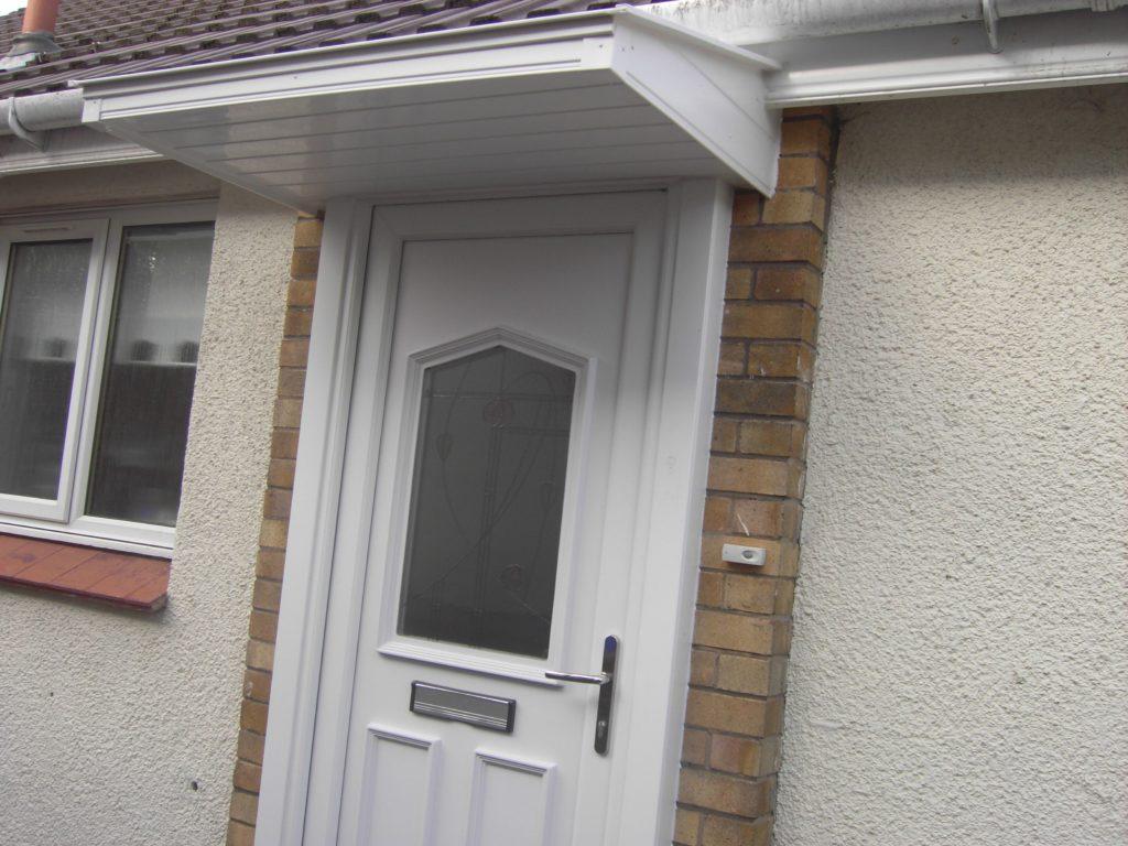 White PCV front door